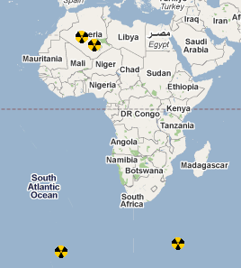 African nuclear test sites