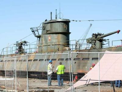 U-156 prop being constructed in Cape Town